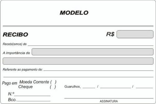 Modelo de Recibo  Pagamento Servio Exemplos Como fazer